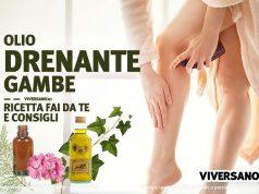 Copertina dell'articolo chiamato Olio drenante per le gambe