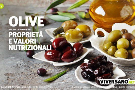 Olive proprieta benefici valori nutrizionali