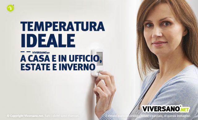 Immagine di donna che imposta la temperatura da tenere in casa