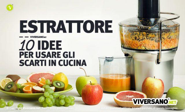 Immagine di estrattore con frutta sul tavolo e sul piatto