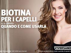 Immagine di donna con capelli belli e forti grazie alla biotina