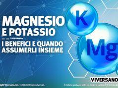 Immagine di 2 atomi di magnesio e potassio con simbolo chimico