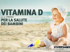 Immagine di bambino al sole per favorire la sintesi di vitamina d