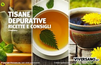 Immagine di presentazione con tre tisane depurative