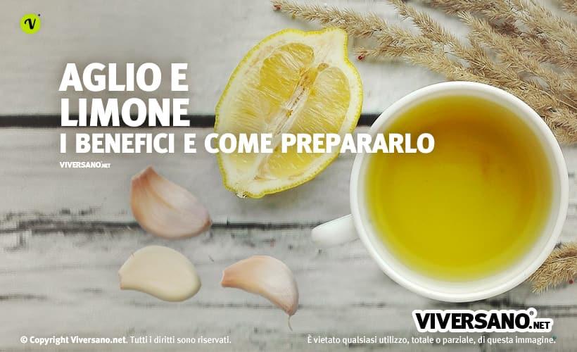 Spicchi di aglio e limone sopra un tavolo
