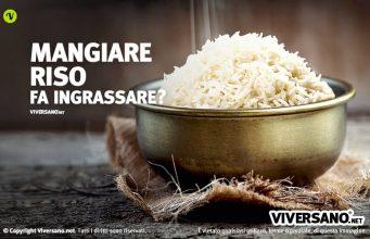 Mangiare riso fa ingrassare?