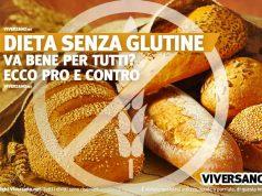 Alimenti con glutine e spiga sbarrata in primo piano