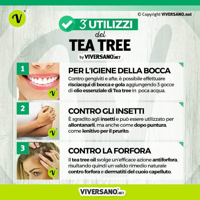 gli utilizzi del tea tree oil