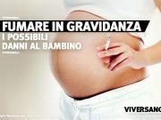 Donna che fuma in gravidanza