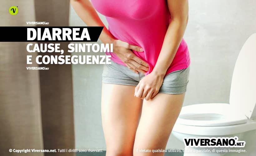 Donna con mal di pancia da diarrea