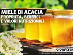 Miele di acacia in vasetti di vetro