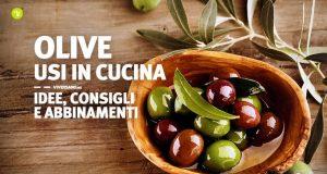 Olive sfuse in un contenitore sopra un tavolo